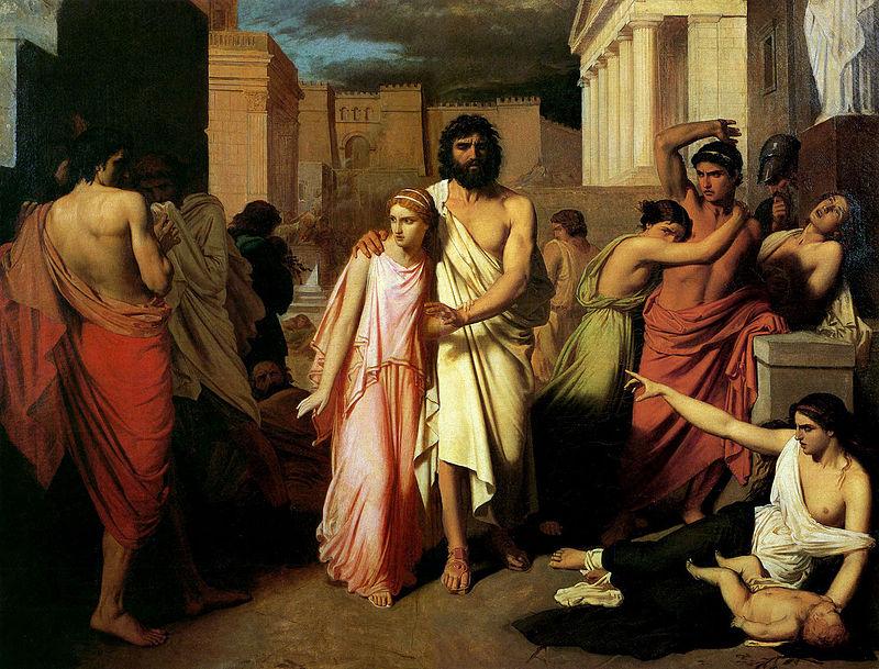 Charles François Jalabert Tarafından Yapılan Bir Oedipus Resmi