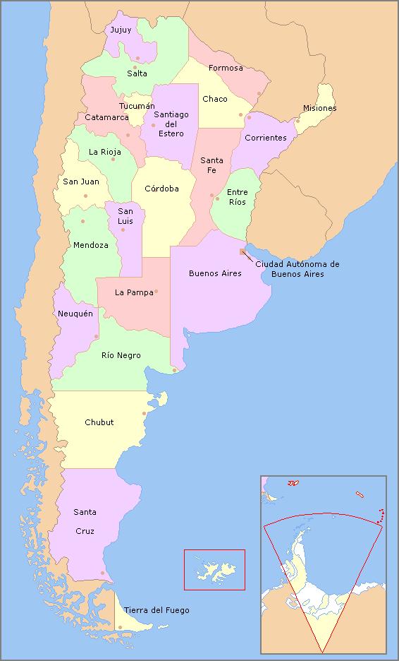 Arjantin Hakkında Bilgiler - Arjantin Eyaletleri - Arjantn Gezilecek Yerler