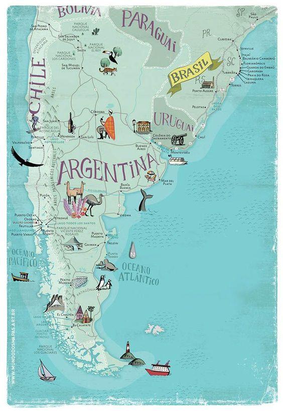 Arjantin Hakkında Bilgiler - Harita