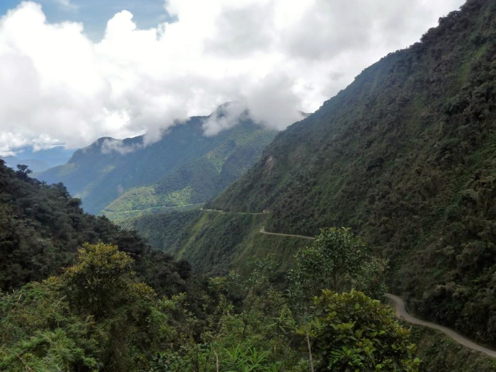 Bolivya Ölüm Yolu Manzaraları