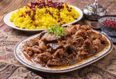 Geleneksel İran Yemekleri: Badenjan İran yemeği