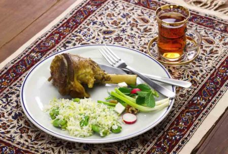 İran Yemekleri: Baghali Polo