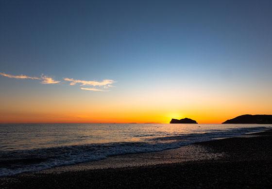Akşam vakti Sarıgerme Plajı
