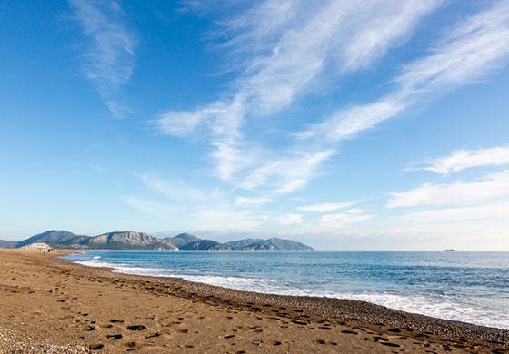 Sarıgerme Plajının Denizi